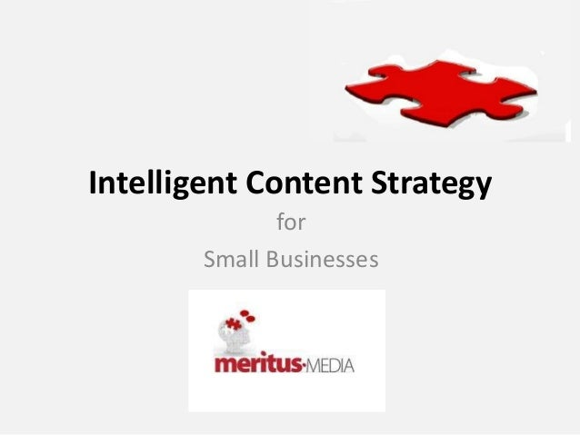 Intelligent Content StrategyforSmall Businesses