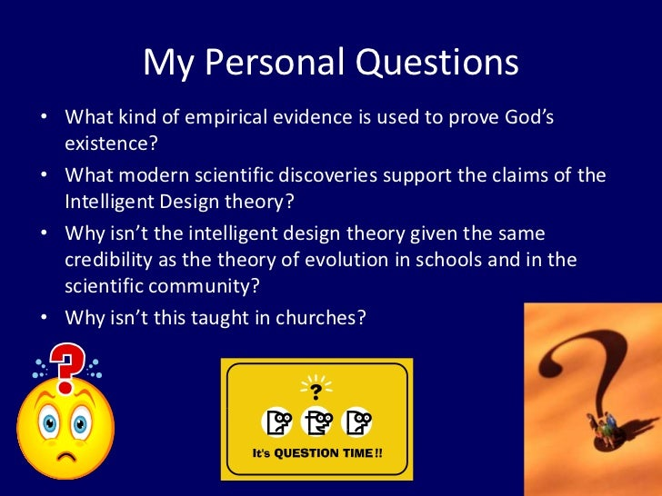 can intelligent design be empirically proven essay