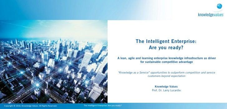 Intelligent enterprise: optimizing the knowledge driven organisation pdf