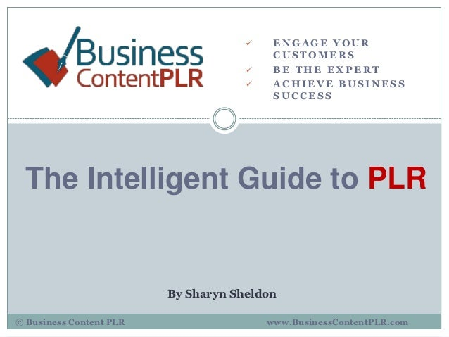 The Intelligent Guide to PLR