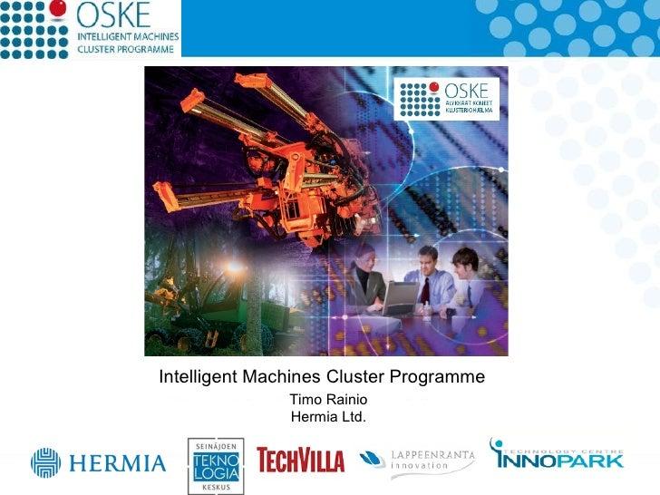 Intelligentmachines clusterprogram rainio
