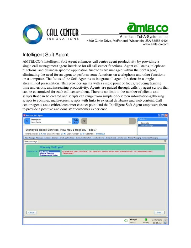 American Tel-A-Systems Inc.                                            4800 Curtin Drive, McFarland, Wisconsin USA 53558-9...