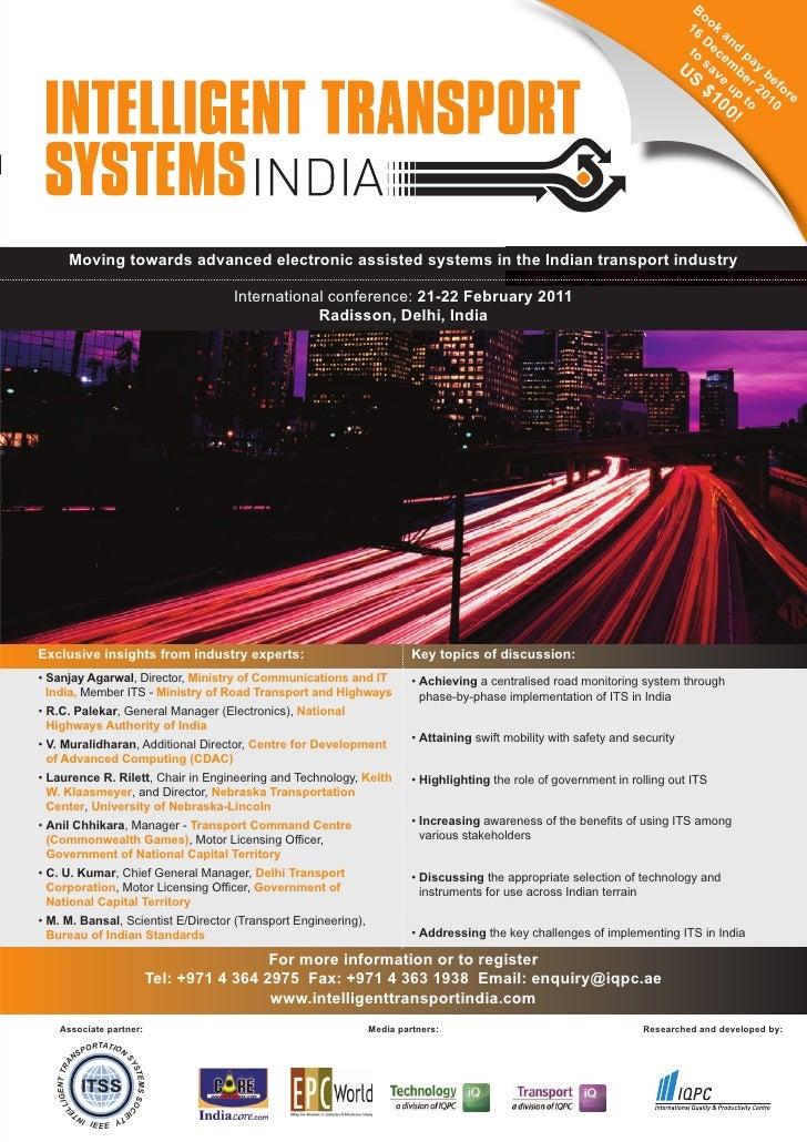 Intelligent Transport Systems India