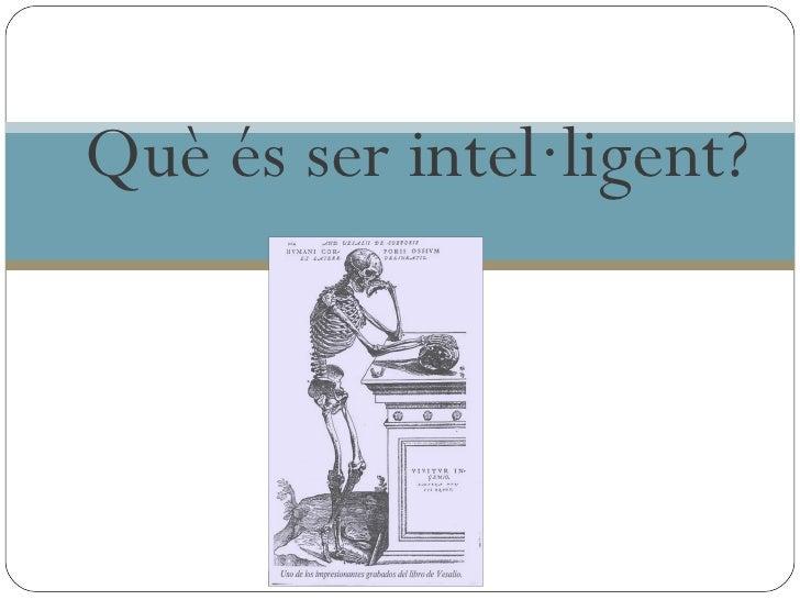 intel.ligència i talent