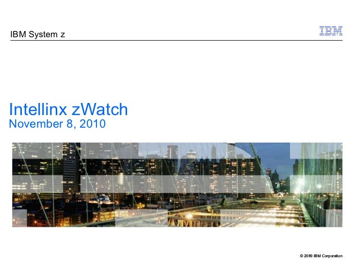 Intellinx zWatch November 8, 2010
