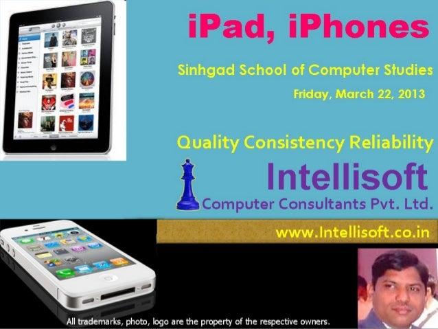 Intellisoft ipad iphone Info March13