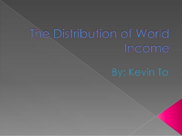    Inequalities in the distribution of income have created fat tail    distributions, where 20% of the population control...