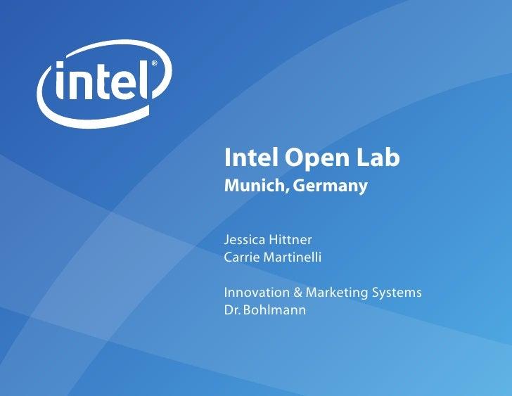 Company Report - Intel OpenLab