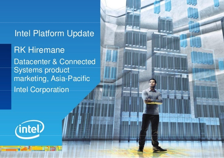 Intel Cloud Summit: Product update