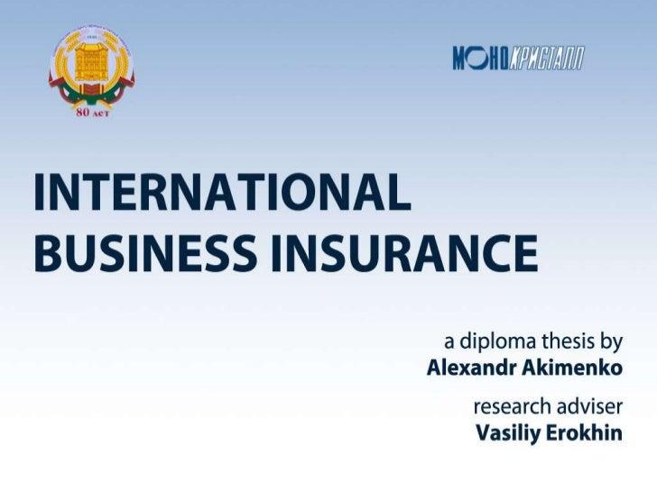 Intenational Business Insurance