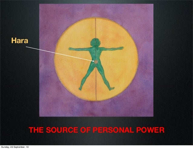 Hara  THE SOURCE OF PERSONAL POWER Sunday, 22 September, 13