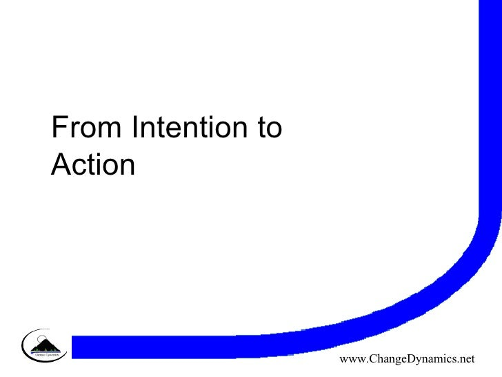 From Intention to Action www.ChangeDynamics.net