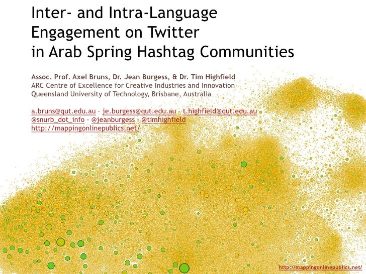 Inter  and Intra-Language Engagement on Twitter in Arab Spring Hashtag Communities