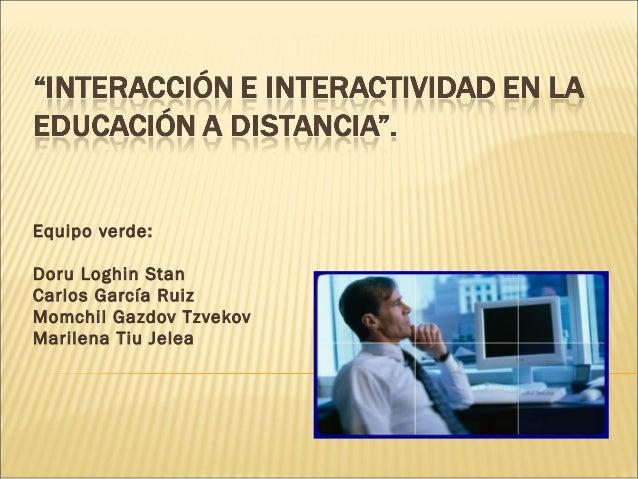 Interacción e interactividad en la educación a distancia