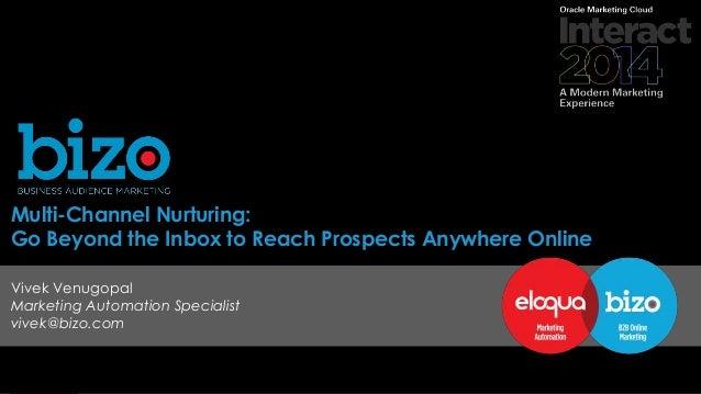 © 2014 Bizo, Inc. Multi-Channel Nurturing: Go Beyond the Inbox to Reach Prospects Anywhere Online Vivek Venugopal Marketin...