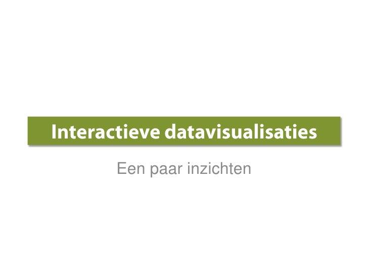 Interactieve datavisualisaties