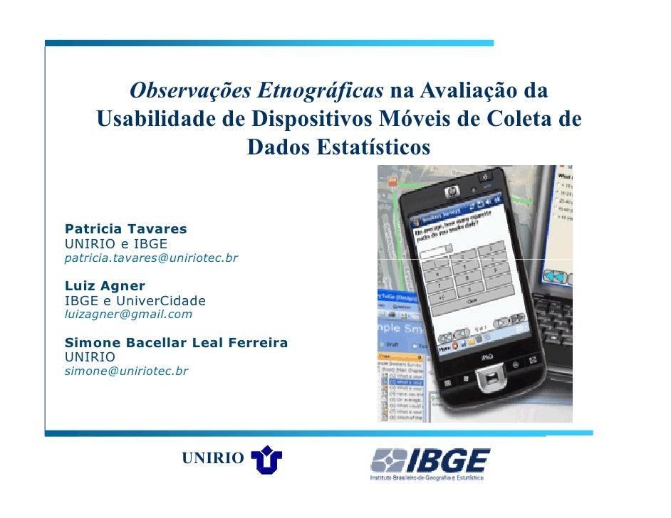 Palestra sobre Usabilidade no Interaction 2010