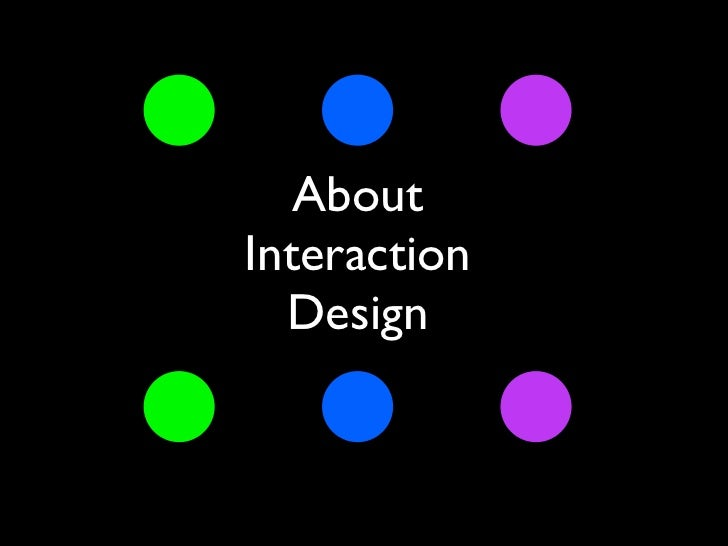 AboutInteraction  Design