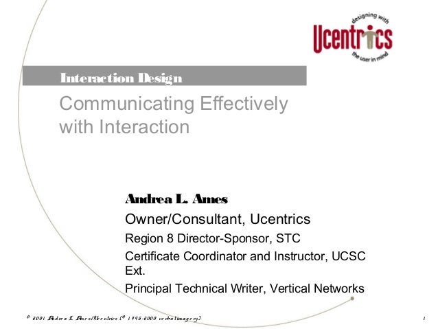 Interaction Design: Communicating Effectively