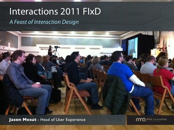 Interactions 2011 Summary