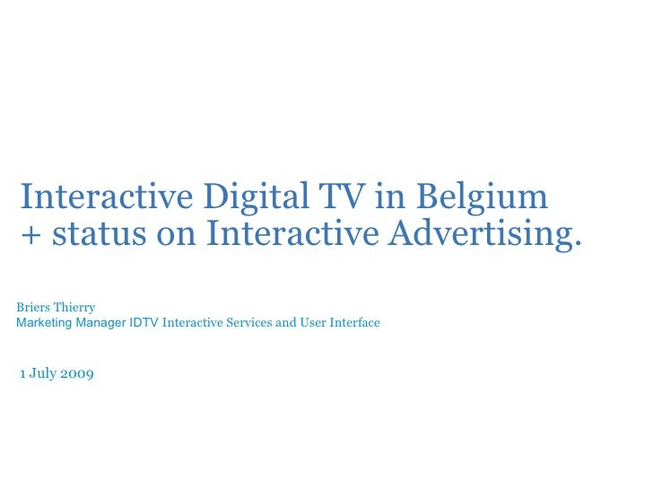 Interactive Digital TV in Belgium