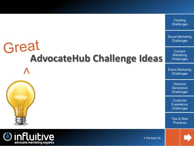 Influitive AdvocateHub: Interactive Challenge Guide