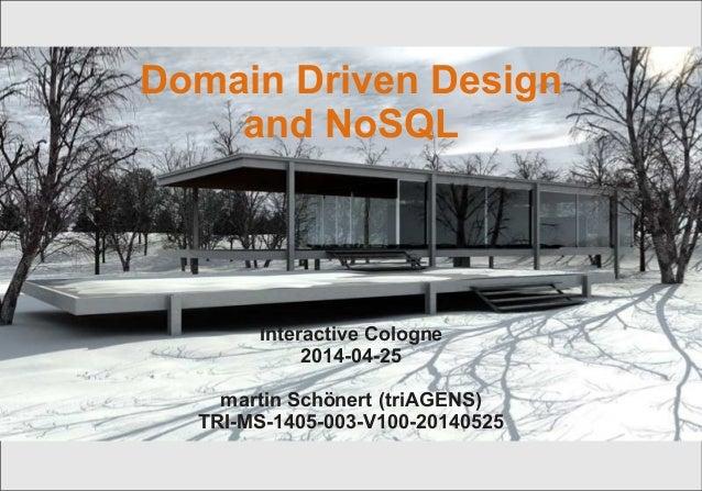 Domain Driven Design und Nosql