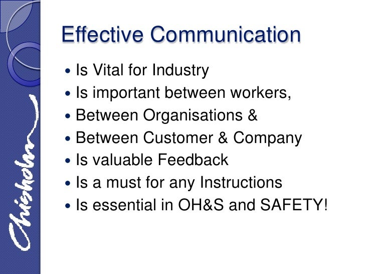Effective Communication Powerpoint Effective Communication is