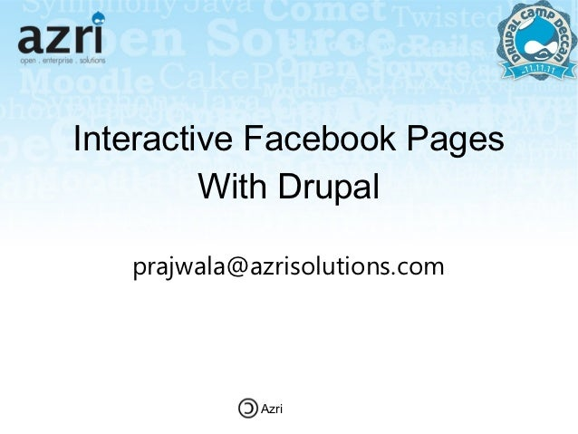 Interactive facebook pages