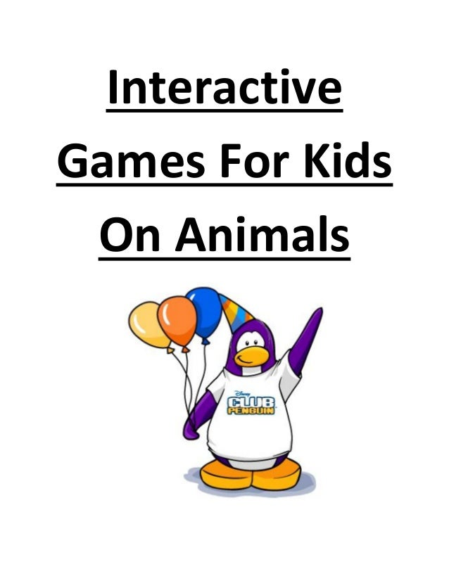 Interactive Games For Kids On Animals