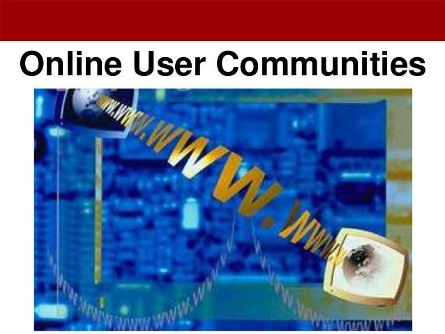 Online User Communities