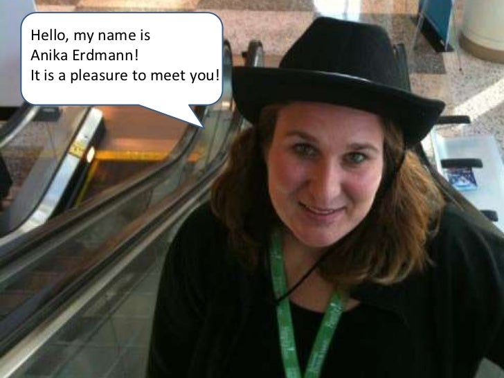 Interactive Resume Anika Erdmann