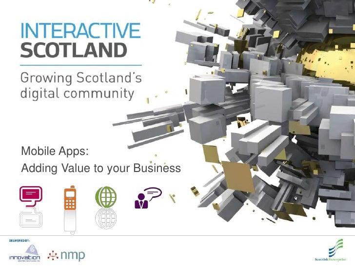 Interactive scotland   mobile apps event