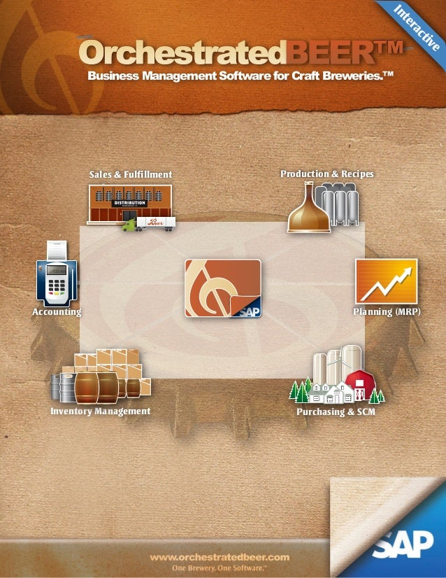 e iv ct ra te In  Orchestrated  ™  Business Management Software for Craft Breweries.™  Sales & Fulfillment  Production & R...