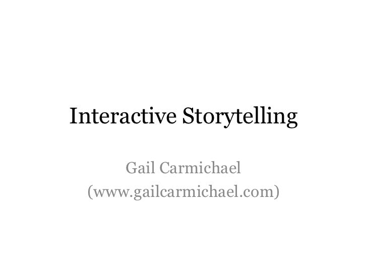 Interactive Storytelling (CANCON 2012)