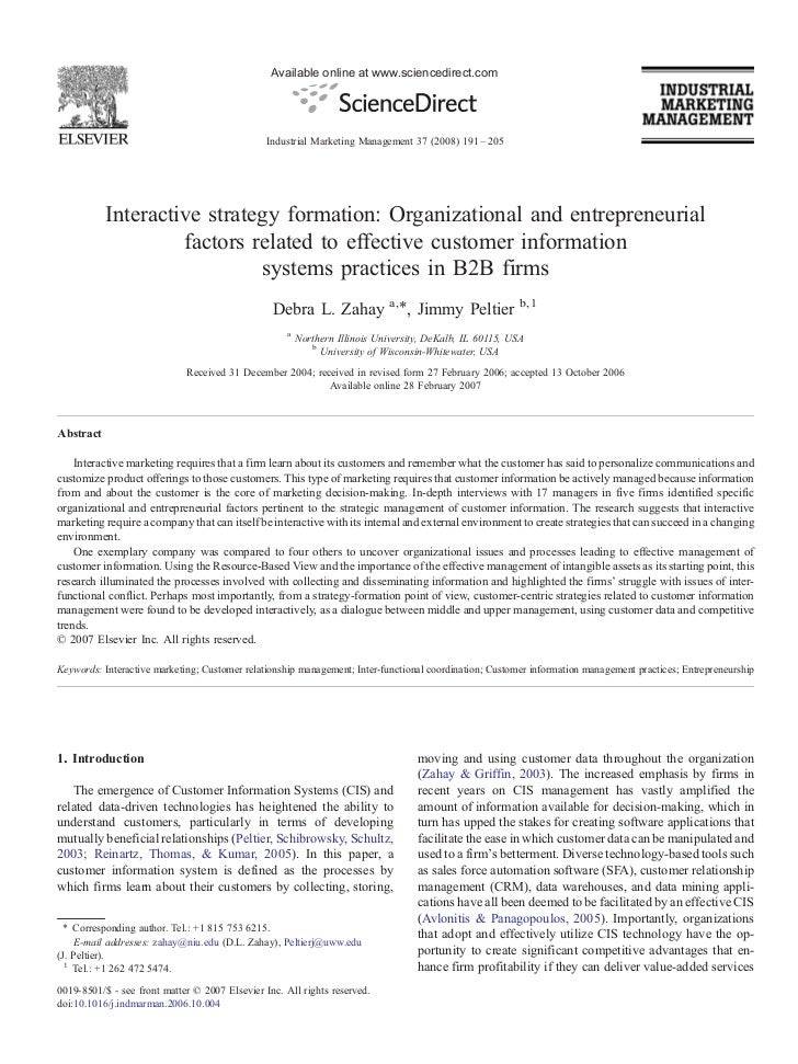Interactive strategy formation_organizational_and_entrepreneurial_factors_related_to_effective_custo