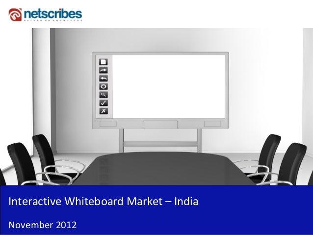 InteractiveWhiteboardMarket– IndiaNovember2012