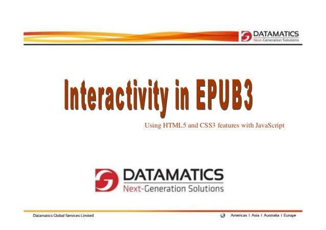 Interactivity in EPUB3 - #FBM12
