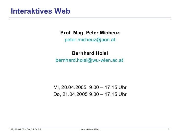 Interaktives Web