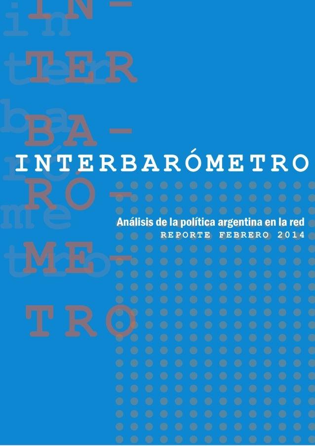 Interbarómetro: Informe especial de gestión de gobierno y manejo de crisis