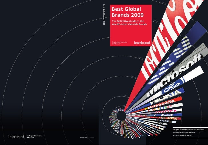 100 Best Global Brands 2009 by Interbrand