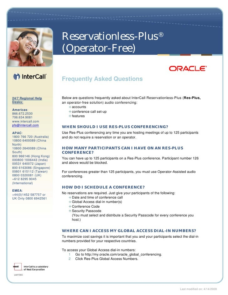 Oracle Intercalls