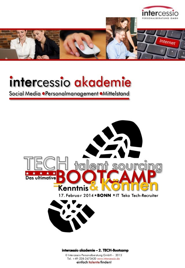 TECH-BOOTCAMP - DAS Praxistraining für ITK-Recruiter - Social Recruiting und Talent Sourcing - 17.02.2014