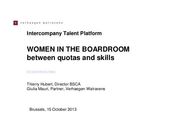 Women on Board : EU legal update and pragmatic approach