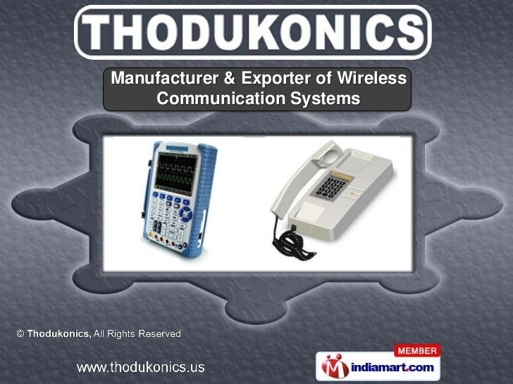 Manufacturer & Exporter of Wireless    Communication Systems