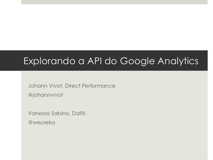 Explorando a API do Google Analytics