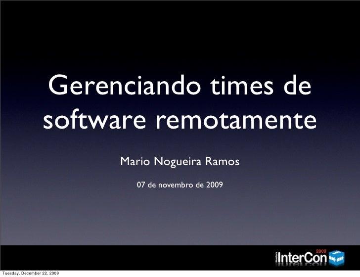 Gerenciando times de software remotamente