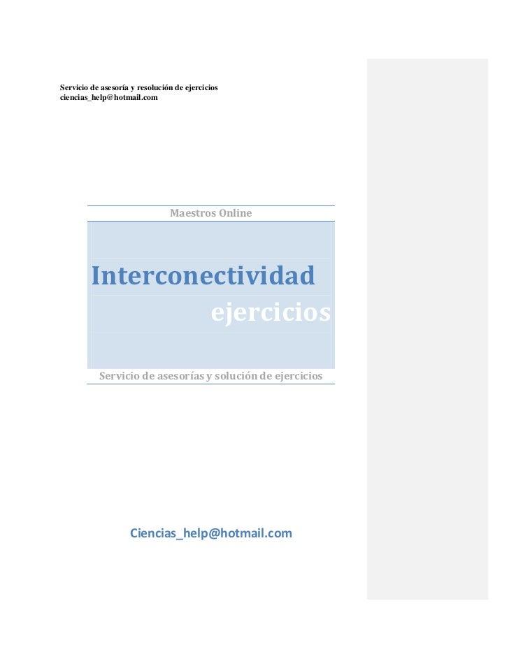 Interconectividad curso completo.