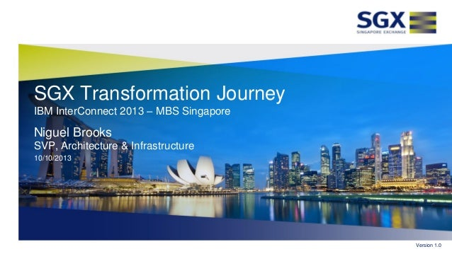 IBM InterConnect 2013 Expert Integrated Systems Keynote: SGX Transformation Journey