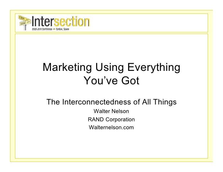 Marketing Using Everything You\'ve Got